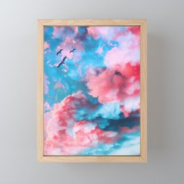 Midsummer fires Framed Mini Art Print