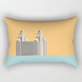 Liverpool Liver Building Print Rectangular Pillow