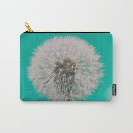 Green Blue Dandelion Carry-All Pouch