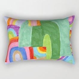 Rainbow Pileup Rectangular Pillow