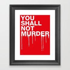 The Sixth Commandment Framed Art Print