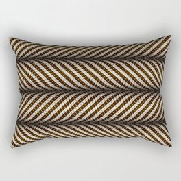 Optical wavy brown pattern Rectangular Pillow