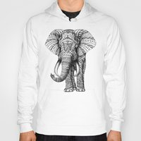 iphone 5 case Hoodies featuring Ornate Elephant by BIOWORKZ