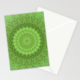Sunflower Feather Bohemian Leaf Pattern \\ Aesthetic Vintage \\ Green Teal Aqua Color Scheme Stationery Cards