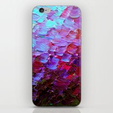 MERMAID SCALES - Colorful Ombre Abstract Acrylic Impasto Painting Violet Purple Plum Ocean Waves Art iPhone & iPod Skin