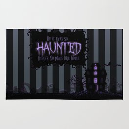 Be it ever so Haunted, there's no place like Home - Dark Gray Rug