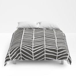 Herringbone – Black & White Comforters