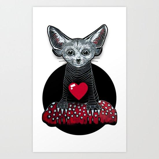 Little Fenek:::Big-hearted Art Print