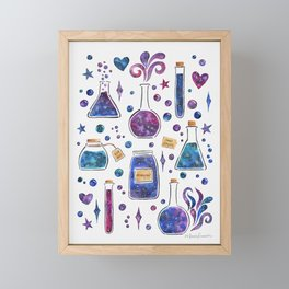 Galaxy Potions Framed Mini Art Print