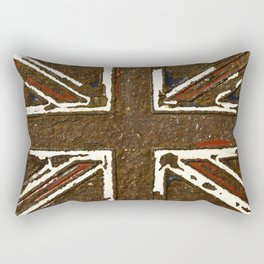 The rusted Union Jack Rectangular Pillow