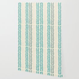Herringbone bamboo leaves Wallpaper