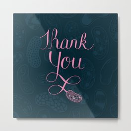 Science themed thank you Metal Print