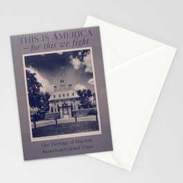 Vintage American World War 2 Poster - This is America: Our Heritage of Freedom (1943) Stationery Cards
