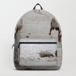 A boy and a dog Backpack
