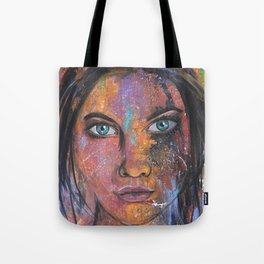 teal eyes Tote Bag