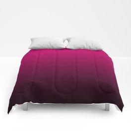 Black and Fuchsia Gradient Comforters