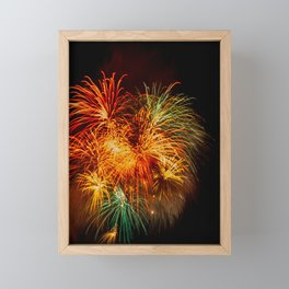 Firework Framed Mini Art Print