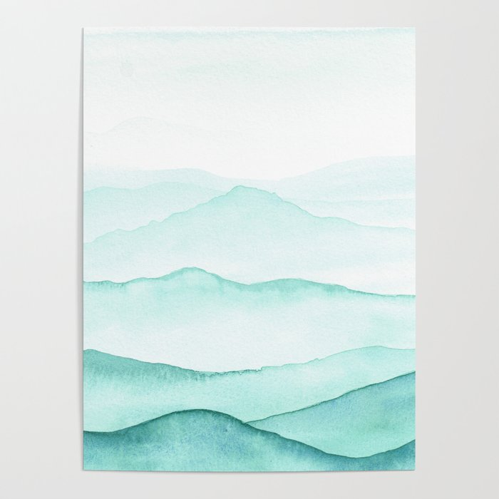 Mint Mountains Poster