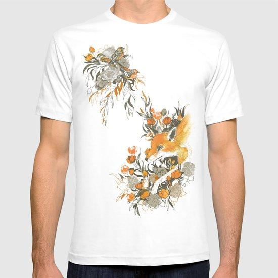 fox in foliage T-shirt