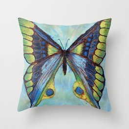 Patina Butterfly Throw Pillow