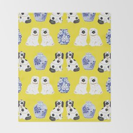 Staffordshire Dogs + Ginger Jars No. 6 Throw Blanket