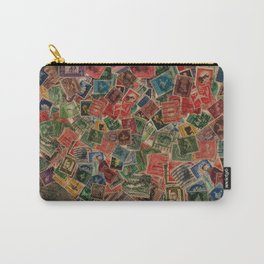 Vintage Postage Stamps Collection Carry-All Pouch