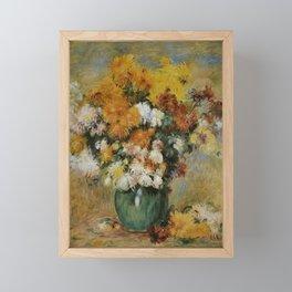 Pierre Auguste Renior Bouquet of Chrysanthemes 1883 Framed Mini Art Print