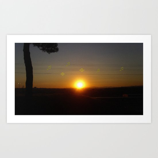 sun music Art Print