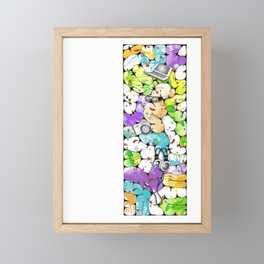 the pieces of the future Framed Mini Art Print