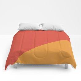 Warm Red & Orange - oblique Comforters