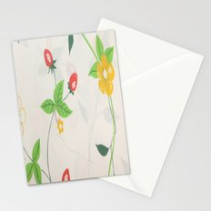 Strawberry Bloom Stationery Cards