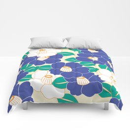 Shades of Tsubaki - Lavender & White Comforters