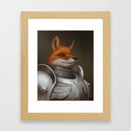 The Knight Fox Framed Art Print