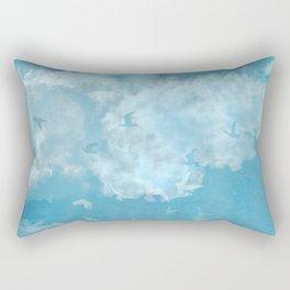 Oiseaux-nuages Vintage Rectangular Pillow