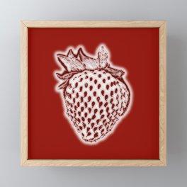 Red Strawberry Framed Mini Art Print