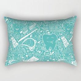 Happy Doodle Teeth Rectangular Pillow