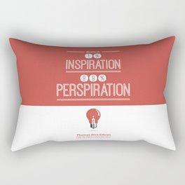 Lab No. 4 - Thomas Alva Edison Quote typography print Inspirational Quotes Poster Rectangular Pillow