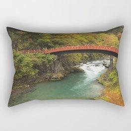 Shinkyo Bridge in Nikko, Japan in autumn Rectangular Pillow