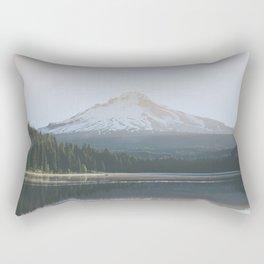 Trillium Lake Sunrise - Nature Photography Rectangular Pillow