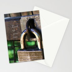 ~Lock Your Love Up and Throw Away the Key~ Stationery Cards