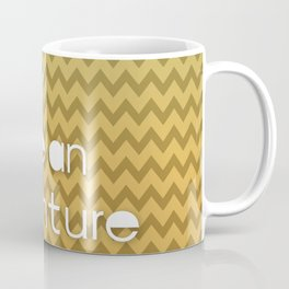 Today Can Be An Adventure Poster Teal Yellow Chevron Coffee Mug