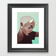 horns and plugs Framed Art Print