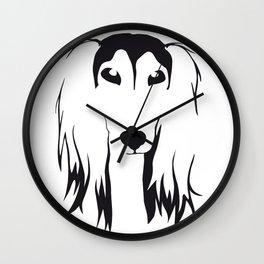 Saluki Wall Clock