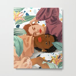 Love is not a color. Character is not a shade of skin. #painting #antiracism Metal Print