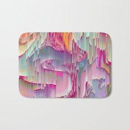 Glitch Pastel Wave Abstract Badematte