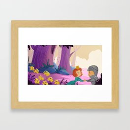 I'll be back before you know it. Framed Art Print