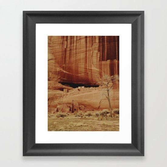 White House Ruins Framed Art Print