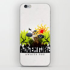 Adventure Awaits You iPhone & iPod Skin