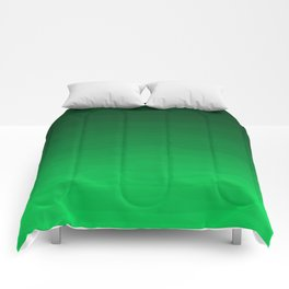 Happy Bright Apple Green Ombre Comforters