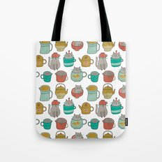 Pattern Project #5 / Cats and Pots Tote Bag